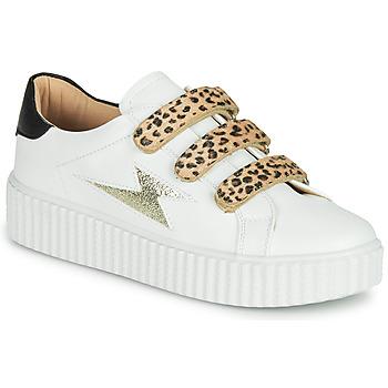 Cipők Női Rövid szárú edzőcipők Vanessa Wu BASKETS À SCRATCHS ANIMALIER Fehér / Leopárd