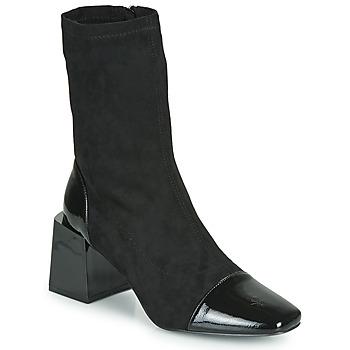 Cipők Női Bokacsizmák Vanessa Wu BOTTINES CHAUSSETTES À TALON BLOC Fekete