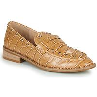 Cipők Női Mokkaszínek Vanessa Wu MOCASSINS EFFET CROCO À CLOUS Barna