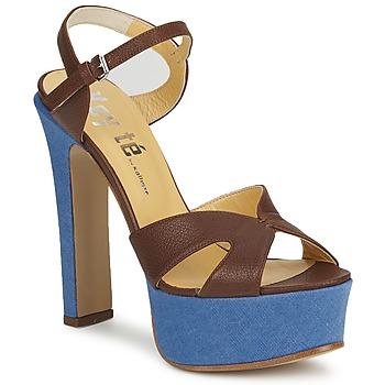 Cipők Női Szandálok / Saruk Keyté CUBA-LUX-MARRONE-FLY-9 Barna