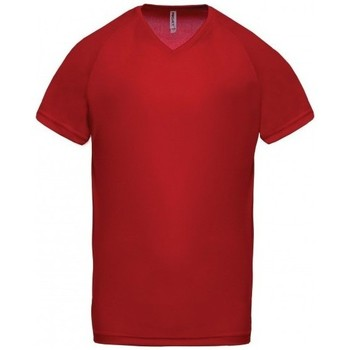 Ruhák Férfi Rövid ujjú pólók Proact T-Shirt Col V  Sport rouge