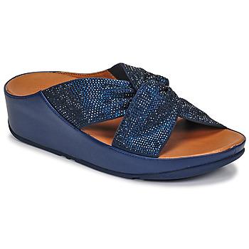 Cipők Női Szandálok / Saruk FitFlop TWISS CRYSTAL SLIDE Kék