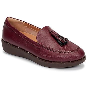 Cipők Női Mokkaszínek FitFlop PETRINA PATENT LOAFERS Piros