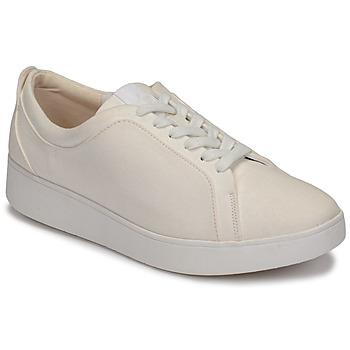 Cipők Női Rövid szárú edzőcipők FitFlop RALLY DENIM Fehér