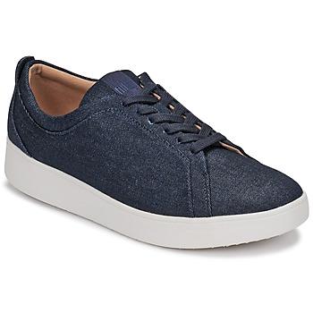 Cipők Női Rövid szárú edzőcipők FitFlop RALLY DENIM Kék