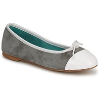 Cipők Női Balerina cipők / babák Les Lolitas FELL Fehér-szürke