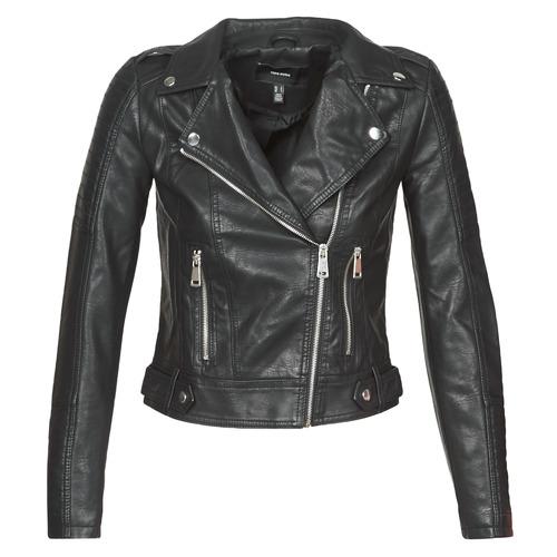 Ruhák Női Bőrkabátok / műbőr kabátok Vero Moda VMKERRIULTRA Fekete