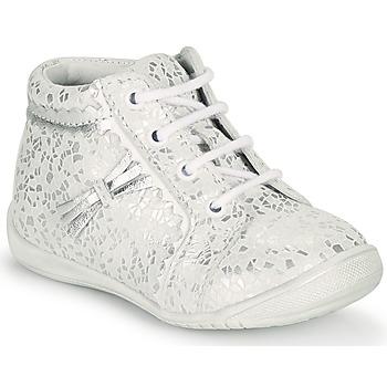 Cipők Lány Magas szárú edzőcipők GBB ACINTA Fehér / Ezüst