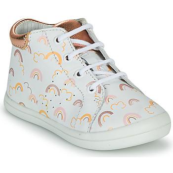 Cipők Lány Magas szárú edzőcipők GBB NAHIA Fehér / Rózsaszín