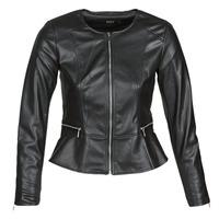 Ruhák Női Bőrkabátok / műbőr kabátok Only ONLJENNY Fekete