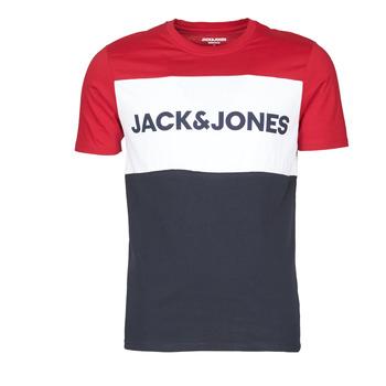 Ruhák Férfi Rövid ujjú pólók Jack & Jones JJELOGO BLOCKING Piros
