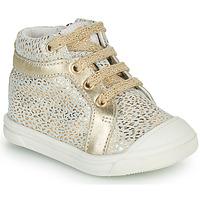 Cipők Lány Magas szárú edzőcipők GBB NAVETTE Arany