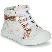 Cipők Lány Magas szárú edzőcipők GBB LEOZIA Fehér / Rózsaszín