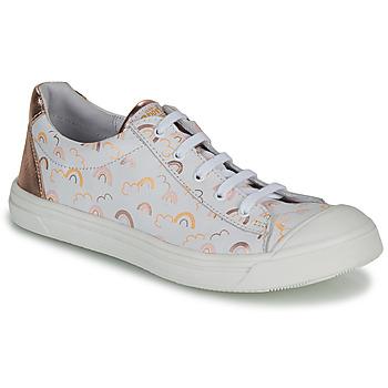 Cipők Lány Rövid szárú edzőcipők GBB MATIA Fehér / Rózsaszín