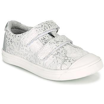 Cipők Lány Rövid szárú edzőcipők GBB NOELLA Fehér / Ezüst
