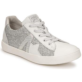 Cipők Lány Rövid szárú edzőcipők GBB DANNI Fehér / Ezüst