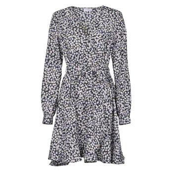 Ruhák Női Rövid ruhák Betty London NAZUR Tengerész / Fehér