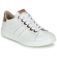 Cipők Lány Rövid szárú edzőcipők Little Mary LAURENE Fehér
