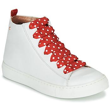 Cipők Lány Magas szárú edzőcipők Little Mary SASHA (VE014) Fehér / Piros