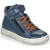 Cipők Fiú Magas szárú edzőcipők Little Mary FIRST Kék
