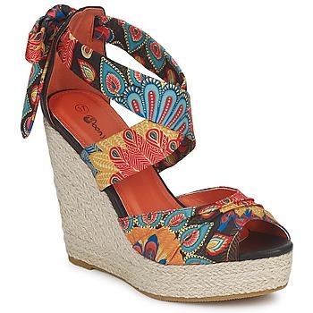 Shoes Női Szandálok / Saruk Moony Mood FIRNIL Fekete  / Sokszínű