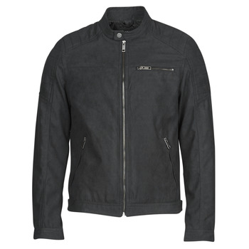 Ruhák Férfi Bőrkabátok / műbőr kabátok Jack & Jones JJEROCKY Fekete