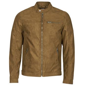 Ruhák Férfi Bőrkabátok / műbőr kabátok Jack & Jones JJEROCKY Konyak
