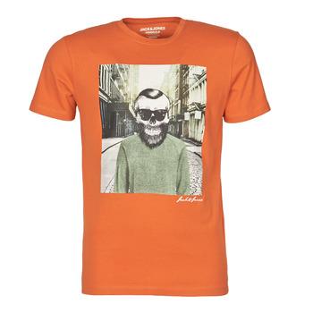 Ruhák Férfi Rövid ujjú pólók Jack & Jones JORSKULLING Narancssárga