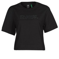 Ruhák Női Rövid ujjú pólók G-Star Raw BOXY FIT RAW EMBROIDERY TEE Fekete