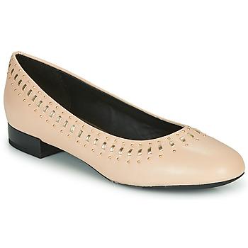 Cipők Női Balerina cipők  Geox D WISTREY Rózsaszín / Arany