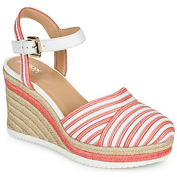 Cipők Női Szandálok / Saruk Geox D PONZA Piros / Fehér