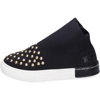 Cipők Lány Divat edzőcipők Joli sneakers tela borchie Nero