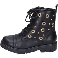 Cipők Lány Bokacsizmák Joli stivaletti pelle sintetica Nero