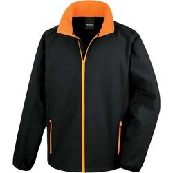 Ruhák Férfi Melegítő kabátok Result Veste  Softshell Printable noir/noir