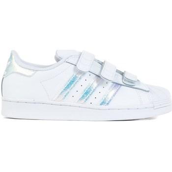 Cipők Gyerek Rövid szárú edzőcipők adidas Originals Superstar CF C Białe