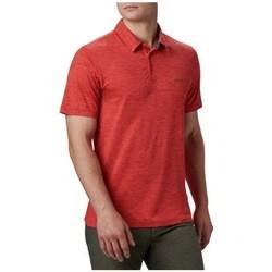 Ruhák Férfi Rövid ujjú galléros pólók Columbia Tech Trail Polo Shirt Piros