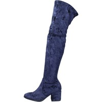 Cipők Női Csizmák Accademia stivali velluto Blu