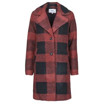 Ruhák Női Kabátok Only ONLVICKI Piros / Fekete