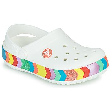 Cipők Lány Klumpák Crocs CROCBAND CHEVRON BEADED CLOG K Fehér / Sokszínű