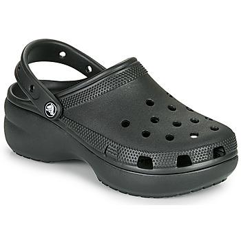 Cipők Női Klumpák Crocs CLASSIC PLATFORM CLOG W Fekete