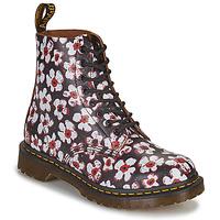Cipők Női Csizmák Dr Martens 1460 PASCAL Fekete  / Fehér / Piros