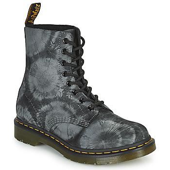 Cipők Női Csizmák Dr Martens 1460 PASCAL Fekete  / Szürke