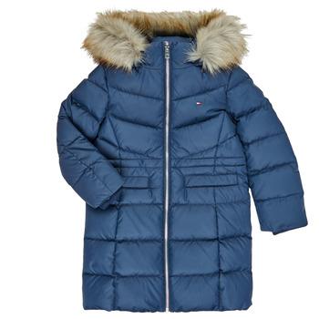 Ruhák Lány Steppelt kabátok Tommy Hilfiger KG0KG05397-C87-C Tengerész