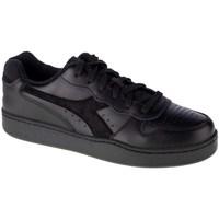 Cipők Férfi Rövid szárú edzőcipők Diadora MI Basket Low Fekete
