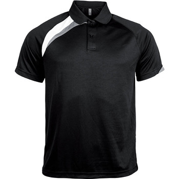 Ruhák Férfi Rövid ujjú galléros pólók Proact Polo manches courtes  Sport noir/blanc/gris clair