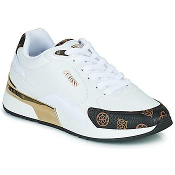 Cipők Női Rövid szárú edzőcipők Guess MOXEA Fehér