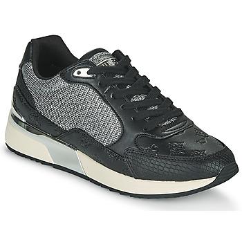 Cipők Női Rövid szárú edzőcipők Guess MOXEA Fekete