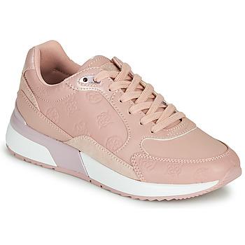 Cipők Női Rövid szárú edzőcipők Guess MOXEA 2 Rózsaszín