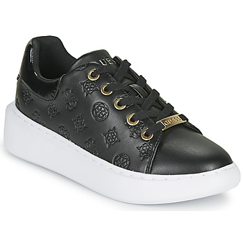 Cipők Női Rövid szárú edzőcipők Guess BRADLY Fekete