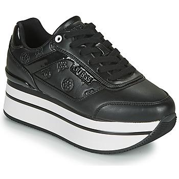 Cipők Női Rövid szárú edzőcipők Guess HANSIN Fekete